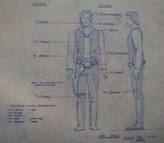 Han Solo Action Figure Blueprint - Star Wars Collectors Archive