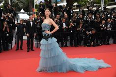 Italian model Bianca Balti attends the 'Cafe Society' premiere and the Opening Night Gala during the 69th annual Cannes Film Festival at the Palais...