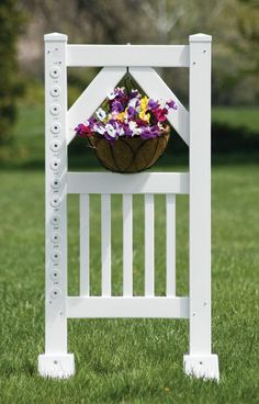 Hanging flower basket jump standard, add some beauty to your course…