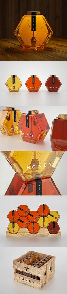 Hexagon Honey... This is how all honey items should be presented.