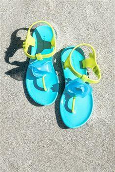 Kate Mack - Flower Sandals in Aqua Spring 2015