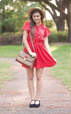 Forever 21 Dress, Thrifted Vintage Dooney And Bourke, Thrifted Vintage Nine West Shoes