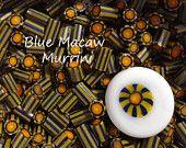 handmade murrini Blue Macaw Blue Macaw, Canes, My Sunshine, Glass Beads, How To Apply, Pattern, Handmade, Etsy, Walking Sticks