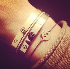 Cartier Love bracelets (I know...it's a stretch. But a girl ca dream!)