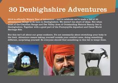 Promotion for 'Year of Adventure' for Denbighshire County Council Adventurous Things To Do, White Fox, Fox Design, Lists To Make, Copywriting, Corporate Identity, Natural Beauty, Promotion, Editorial