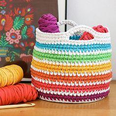 Rainbow Storage Basket - Free Pattern