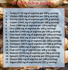 Arginine is an amino acid, which is essential for your health. Here is a list of 17 foods rich in arginine you should add to your daily diet. Heart Healthy Recipes, Gourmet Recipes, Blackberry Ice Cream, Healthy Omelette, Healthy Ice Cream, Smoked Bacon, Nutrition Education, Nutrition Classes, Muesli