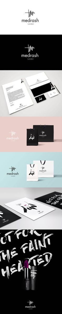 Medrash is a cosmetic brand, targets young talented makeup artists, drama and theatre performers. It is for the one's that dare to be different with middle market pricing and it is not for the faint-hearted. #CorporateImage