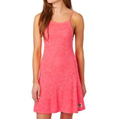 Superdry Dresses - Superdry Racer Rib Swing Dress - Pop Candy Coral