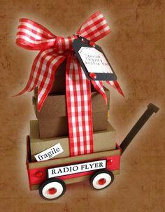 Geyda's Craft Creations: Little Red Wagon *Radio Flyer* 3D
