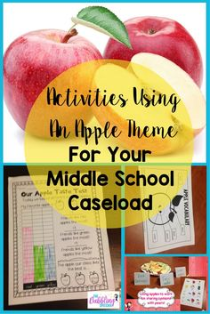 apple activities that can be used with middle school students. Fall activities for middle school. language activities with an apple theme.