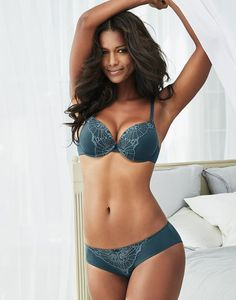 A fresh take on the classic push-up, our Connie offers the best of both worlds with smooth cups for everyday wear and lacy details that whisper romance. The silvery butterfly lace design makes this an instant favorite! Complete the look with a matching bikini featuring the same lace accents.