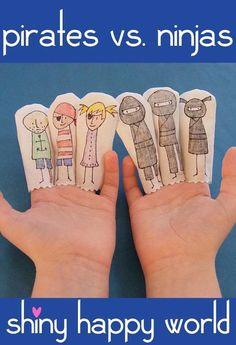 Pirates vs. Ninjas Finger Puppet pattern