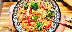 Een heerlijk goedkoop en snel roerbak gerecht, geinspireerd op het gerecht Khao Pad Kai uit Thailand!
