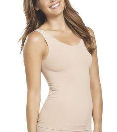 NWT Jockey Tank StayCool Shapewear Rachel Zoe Comfort Control Blk Bge 4033 sizes #Jockey #ShapingTank4033