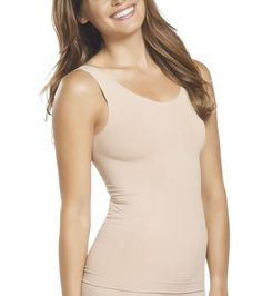 NWT Jockey Tank StayCool Shapewear Rachel Zoe Comfort Control Blk Bge 4033 sizes #Jockey #ShapingTank4033