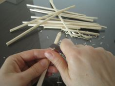 make your ownbobbinsI.   Bobbin Lace Making