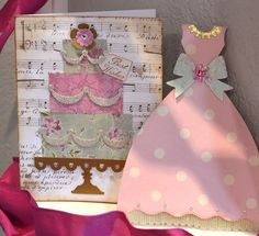 Cake and dress cards
