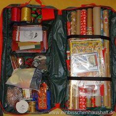 Geschenkpapier organisieren