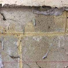 Wall detail, Old Co-Op, Newhaven #wall #newhaven #coop #breezeblock #mortar…