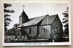 Real Photo Postcard of Dymchurch Parish Church between Hythe & New Romney Kent