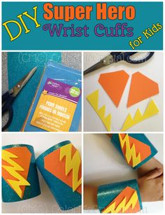 DIY super hero wrist cuffs for #kids This super cheap, super easy #craft is perfect for your super kiddo!
