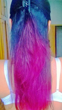Purple Red Ombre Hair