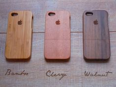 Iphone 5 case  wooden cases bamboo cherry and by CreativeUseofTech, $45.00