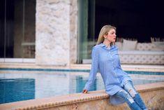 Πώς να φοράς με ξεχωριστό στιλ τις πουκαμίσες - Miss Pinky Denim, Blog, Jackets, Tops, Women, Fashion, Down Jackets, Moda, Fashion Styles
