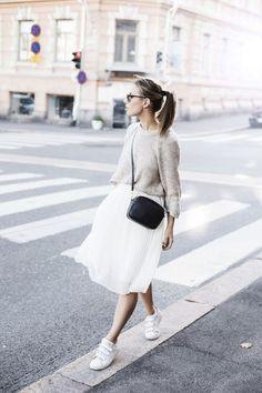 d4fbce2935f Белая юбка в образах. 3 Нейтральный Наряд