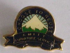 Vintage Amity Furniture Service Pin /Button  by vintagehouses