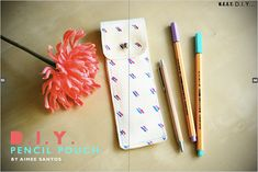 """When the lovely folks at NEET Magazine asked if I could create a """"Back to School"""" inspired DIY, I was quite excited! I thought this DIY pencil pouch would be a great accessory for any … School Pencil Case, Diy Pencil Case, Pencil Bags, Pencil Pouch, Diy Craft Projects, Diy And Crafts, Project Ideas, Fun Crafts, Sewing Projects"""
