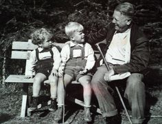 Future last President of Czechoslovakia and first President of Czech Republik Václav Havel (in the middle), his brother Ivan and their maternal grandfather Hugo Vavrečka. The Rolling Stones, Mother Family, Iconic Photos, Czech Republic, Black And White Photography, Presidents, European Countries, History, Miraculous