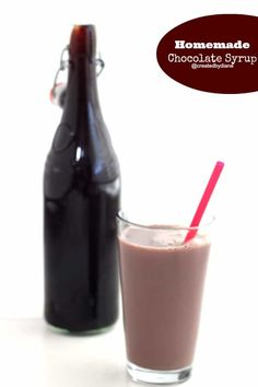 How to make the best tasting Chocolate Syrup - Created by Diane Chocolate Syrup Recipes, Homemade Chocolate Syrup, Homemade Syrup, How To Make Chocolate, Chocolate Deserts, Homemade Recipe, Chocolate Lovers, White Chocolate, Yummy Drinks