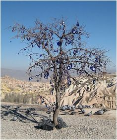 Nazar tree in modern Cappadocia, turkey