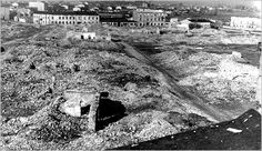 The ruins of a bunker used by members of the Jewish underground, in the area that had been the Czestochowa ghetto.