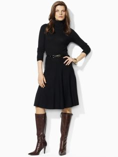 Finally a sweater dress that doesn't hug your thighs like a second skin...