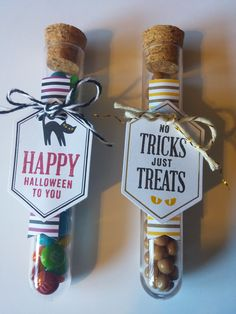 My Paper Pumpkin September 2016  Test Tubes!!  Filled with Mini M&M's and… Up Halloween, Halloween Cards, Halloween Treats, Pumpkin Cards, Paper Pumpkin, Test Tube Crafts, Candy Party, Past Papers, Chocolate
