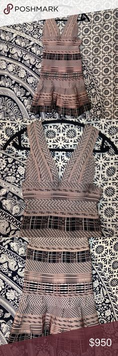 Authentic Herve Leger Dress!!! Authentic Herve Leger dress. NEVER WORN! I'm usually a size 4 and wear small or medium and this is tight so it fits a true small or size 2. Perfect condition. Herve Leger Dresses Mini