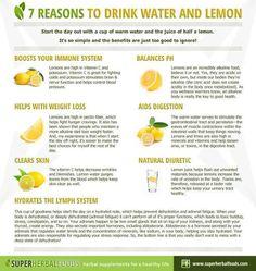 Lemon Water. Why you should be drinking it.   www.HopeNurturedHobbies.com