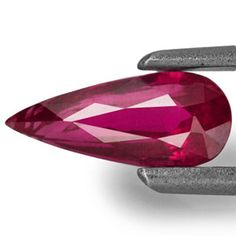 0.73-Carat Eye-Clean Magenta Red Pear-Shaped Ruby (Unheated)