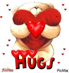 Hugs And Kisses Quotes, Hug Quotes, Hug Pictures, Teddy Bear Pictures, Love You Gif, Love You Images, Hug Gif, Gif Animé, Cute Hug
