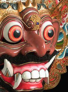 Balinese Mask - Mask of Kumba Karna Living Puppets, Indonesian Art, Barong, Masks Art, African Masks, Balinese, Tribal Art, World Cultures, Elementary Art