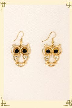 I love owl jewelry! I collect it!