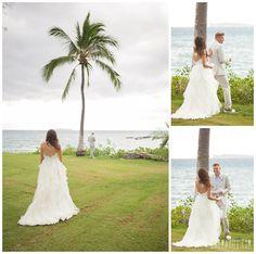 FIRST LOOK, Hawaii Weddings by Tori Rogers, www.hawaiianweddings.net A Modern Tropical Affair! Nikki and Mike's Maui Wedding by Maui Wedding Photographer Karma Hill  Maui Photographer - Karma Hill