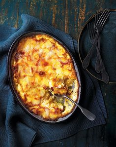 This tartiflette recipe is a traditional dish from the French Alps. Salad and pickles are essential accompaniments, and charcuterie will turn it into a proper meal.