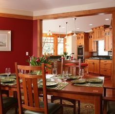 Arts & Crafts + Craftsman Exteriors Dining Design Ideas, Pictures, Remodel and Decor