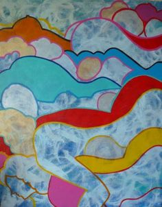 "Saatchi Art Artist Bernard Moutin; Painting, ""Mixity 5 - Clouds"" #art"