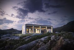 Infinity house, a modern architecure with a rooftop pool in Norway