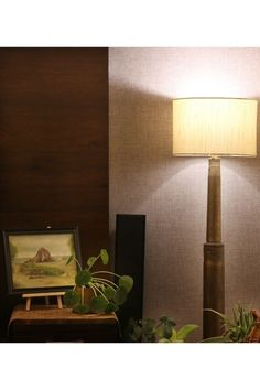 The floor lamp is made from shell casings | Home Tour: A beautiful Antique Modern home in Bangalore ~ The Keybunch Decor Blog Makes You Beautiful, Beautiful Homes, Brick Cladding, Vintage Trunks, Tanjore Painting, Stone Flooring, Decorating Blogs, House Tours, Floor Lamp